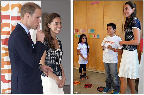 Royal snail  Kate races ahead with her painting at Inner-City Arts  campus whilst William is slow off the mark  9