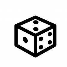 サイコロ立方体シルエット イラストの無料ダウンロードサイト