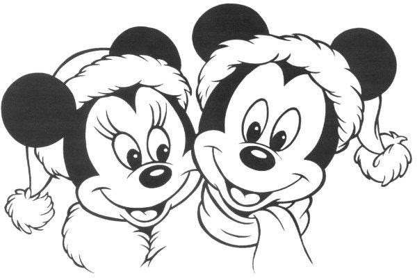 Minnie Et Mickey Coloriage A Imprimer