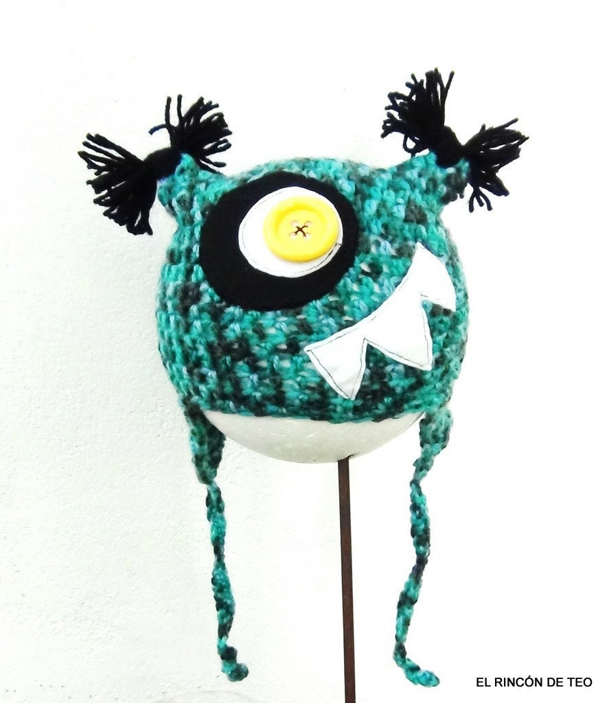 Crochet Hat CrazyMouth Monster