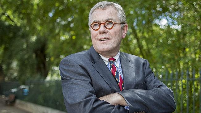 Tony Morris QC outside Parliament House in Brisbane. Pictures: Jack Tran