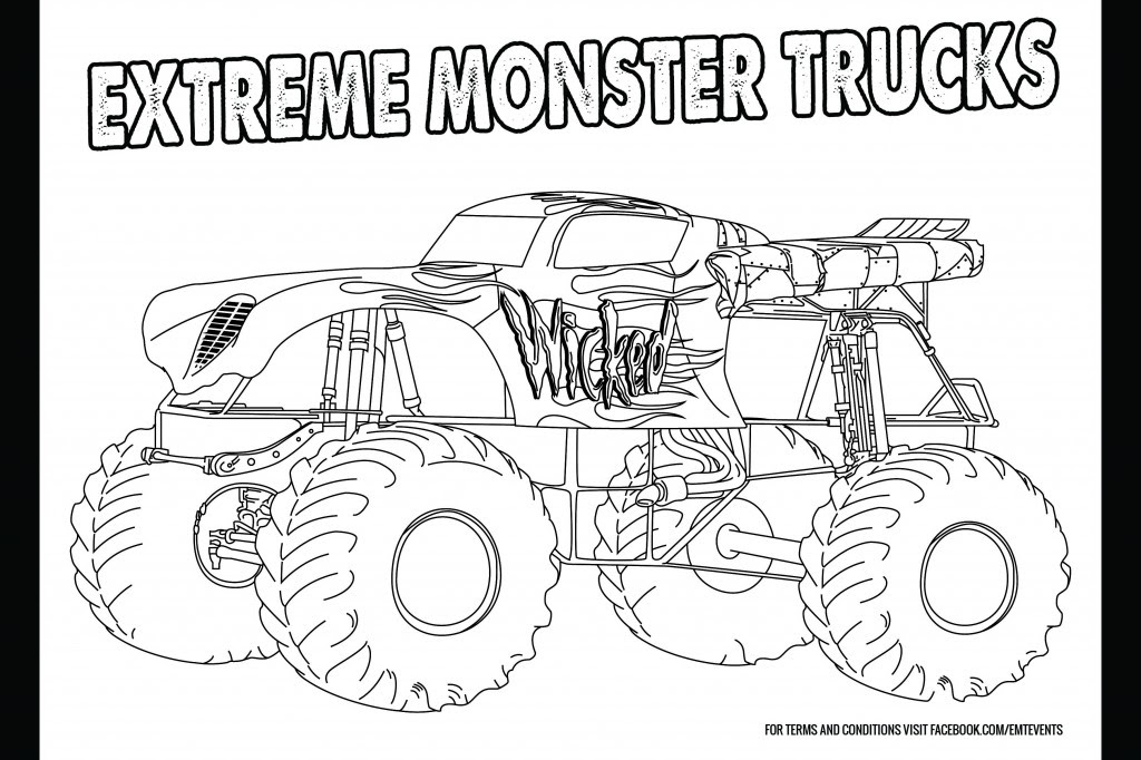 Monster Truck Colouring in Competition :: coffsforkids.com