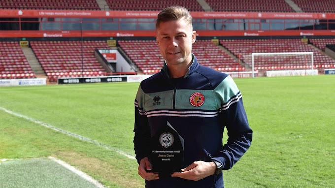 James Clarke Named Walsall's PFA Community Player of the Year for 2020/21