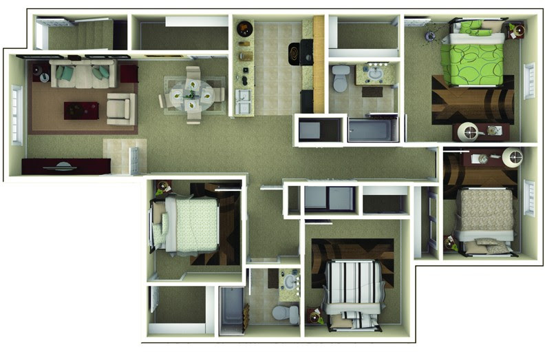 Apartments In Brownsburg Indiana | Floor Plans