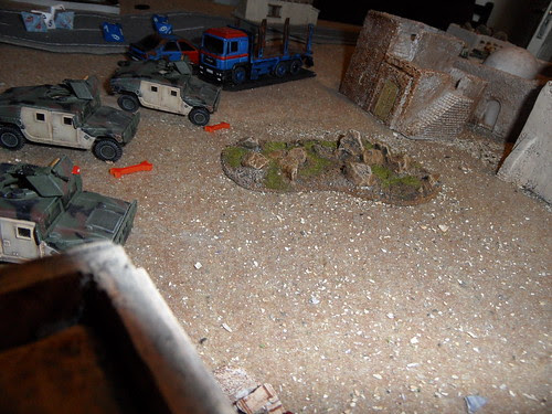 Humvees taking a hammering