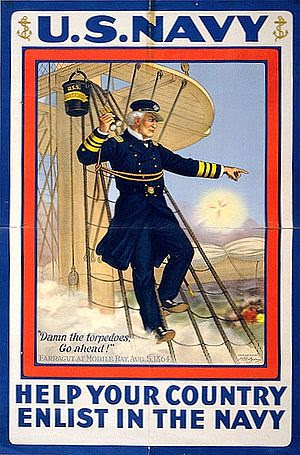 World War I recruitment poster featuring Ameri...
