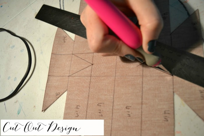 use a straight edge like a steel ruler to cut out the leather overlay