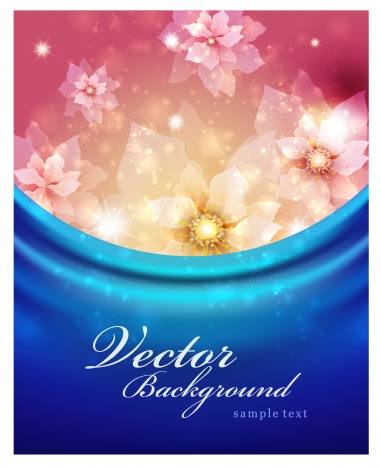 Romantic Flower Background Vectors Stock In Format For Free Download