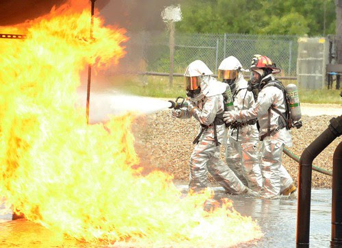 Firefighters participate in annual training by Fort Bragg