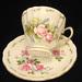 """Royal Vale Bone China """"Floral"""" Teacup & Saucer"""