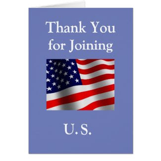 """""""Thank You for Joining US"""" New American Citizen Card"""