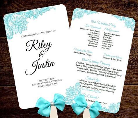 diy wedding fan programs folded programs images