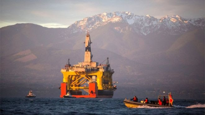 Royal Dutch Shell hoped to use this rig for exploratory drilling during the summer open-water season in the Chukchi Sea off Alaska's north-west