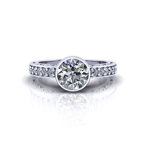 Filigree Bezel Engagement Ring   Jewelry Designs