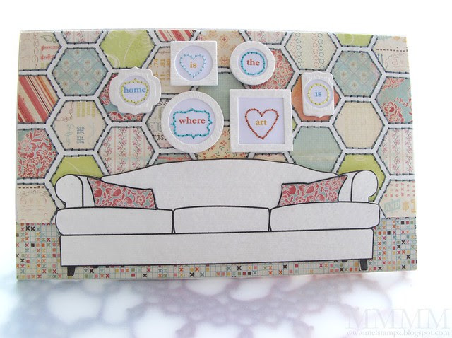 Tiffany Doodles Couch notebook 2 - Front mel stampz