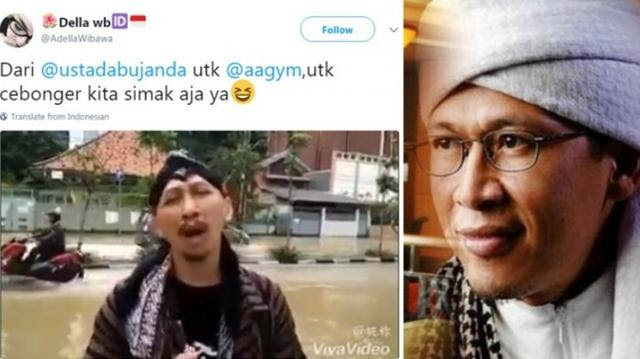 Jakarta Banjir Lagi, Video Abu Janda Sindir Aa Gym Viral