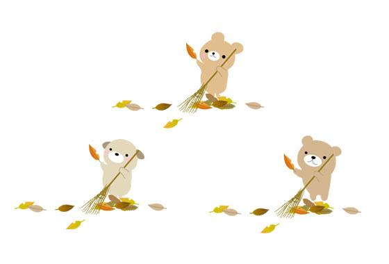 落ち葉 枯れ葉 水彩画イラスト フリーダウンロード