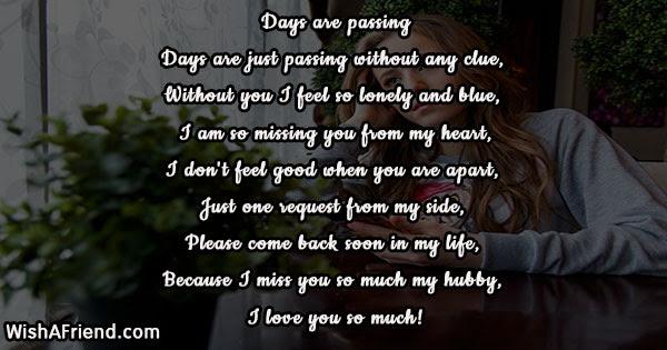 Missing You Poems For Husband