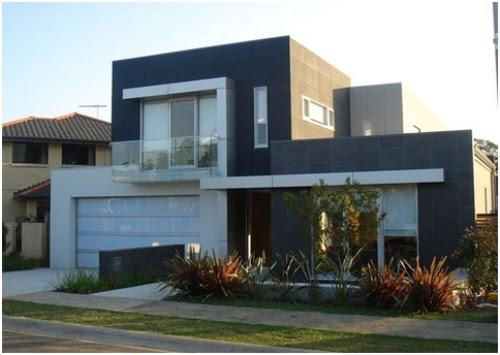 Desain Tampak Depan Rumah Minimalis Hitam Putih Rumahminimalis Com