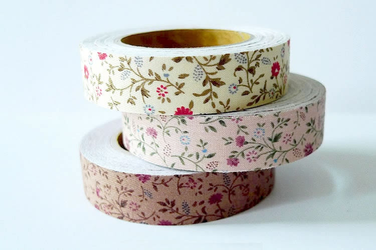 Floral Small Flowers Fabric Tape - Floral Trim - CHOOSE ONE COLOR