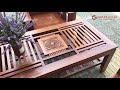 Bộ bàn ghế Sofa gỗ Còng mặt trống đồng - Nội Thất Gia Phong