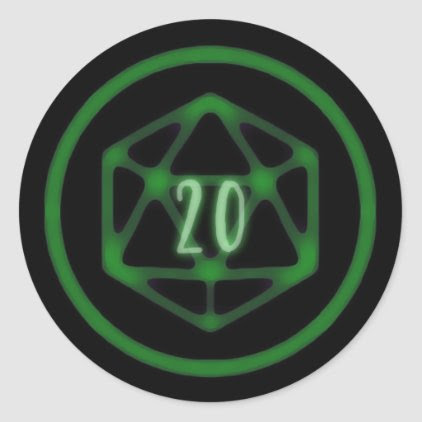 Green D20 Crit stickers