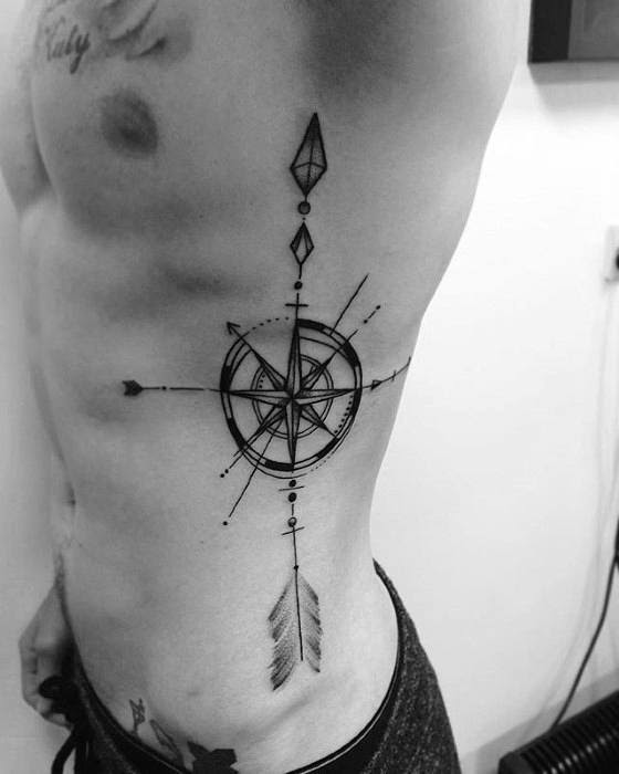 40 Geometric Compass Tattoo Designs For Men Cool Geometry Ideas