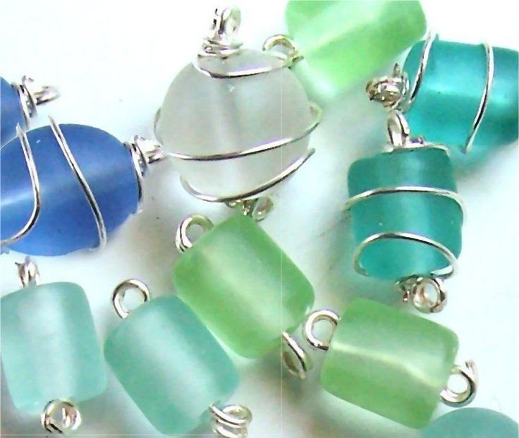 A Quick How To Wire Wrap a Glass Bead  #Wire #Jewelry #Tutorials