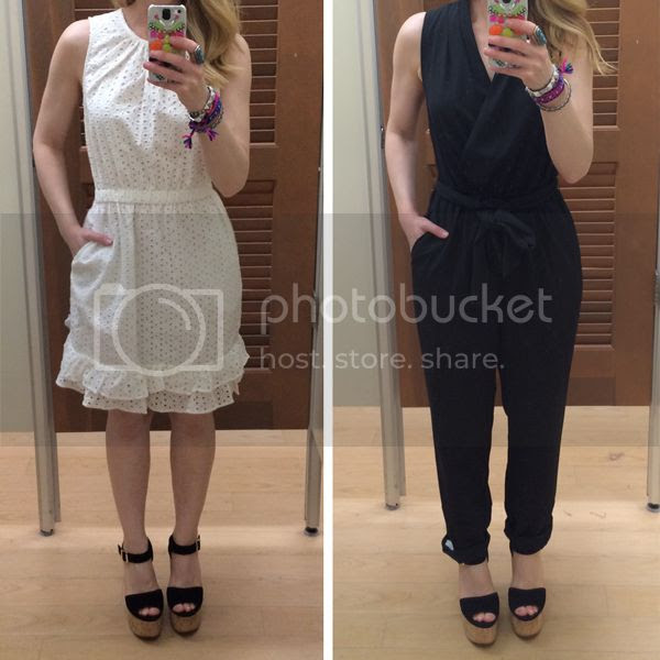 Peter Som for Kohl's eyelet dress and black jumpsuit