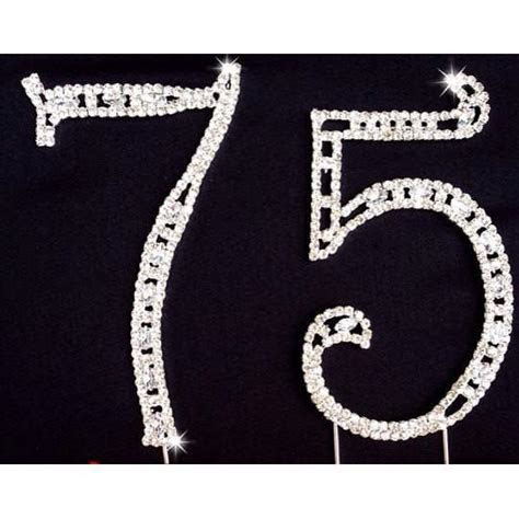 75th Birthday Cake Decorations Silver 75th Anniversary