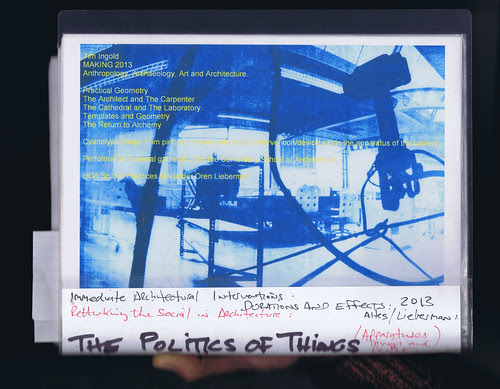 The Politics of Things : Cyanotype Poster by Russell Moreton
