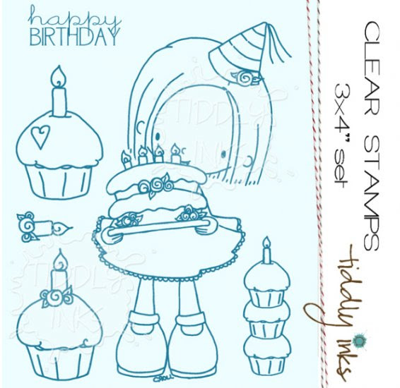 *PRE-ORDER* NEW Tiddly Inks - Ellie Says Happy Birthday