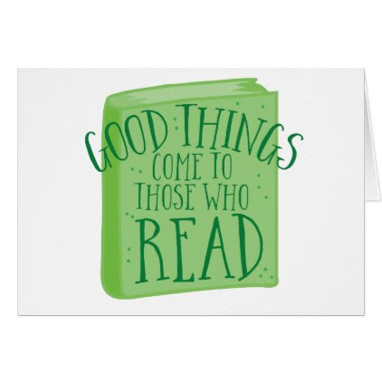 good things come to those who read card
