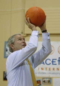 Bush & the basketball game of doom, 6.16.08   10