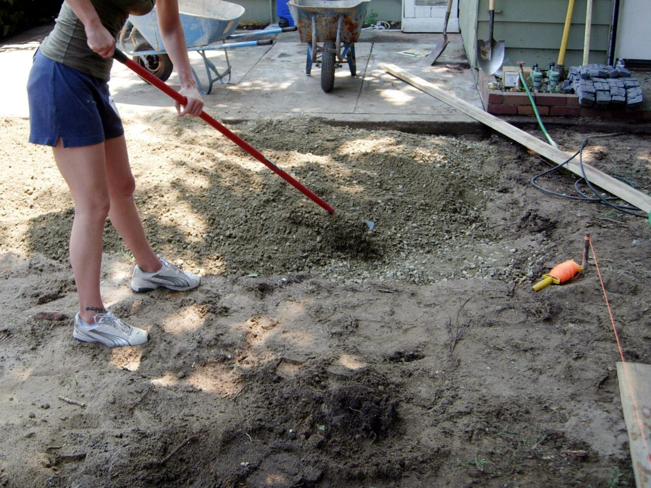 How to Install a Cobblestone Patio on Concrete or Bare ...