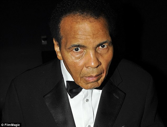 Fighter: Muhammad Ali (above in 2011) is reportedly on life support as he deals with respiratory issues