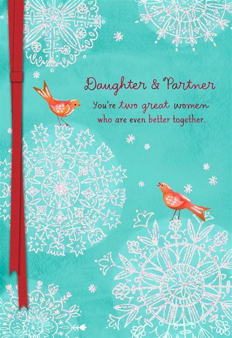 Daughter and Partner Christmas Card   Greeting Cards