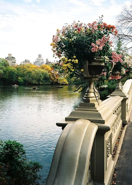 Stone railings in Central Park