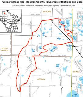 Germann Road Fire Map