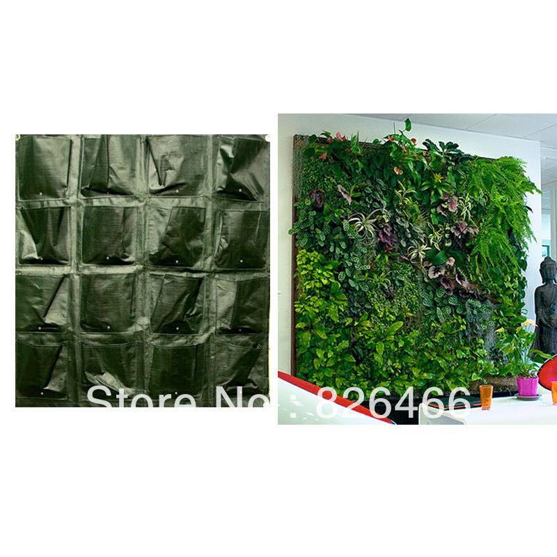 16Pockets Planter Vertical Garden,Home Garden Living Wall Planters ...
