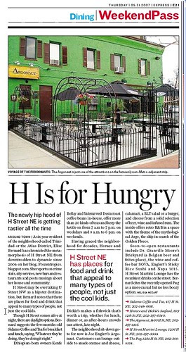 H is for Hungry, Express article