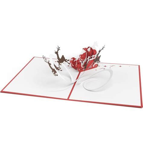 Santa Sleigh 3D Christmas Pop Up Card   Lovepop