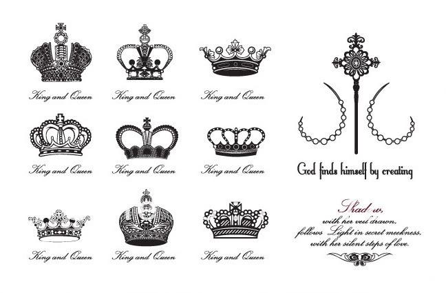 Majestic Crown Tattoo Designs Idea For Girls