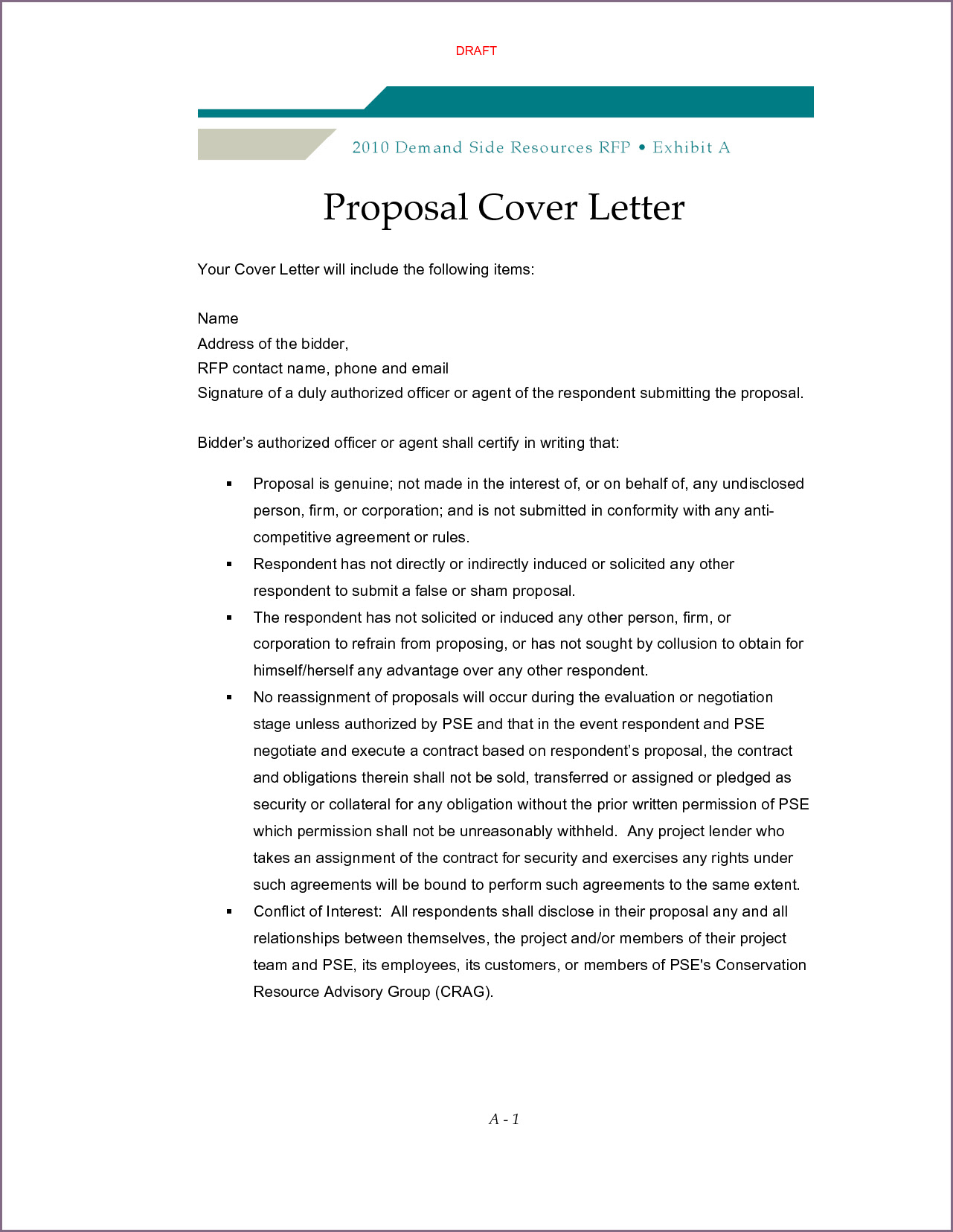 Sample Cover Letter For Project Proposal Sample Cover Letter