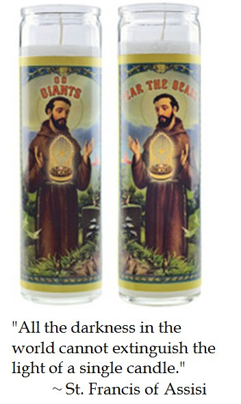 St. Francis Assisi San Francisco Giants Candle