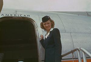 Stewardess, circa 1949-50, American Overseas, ...