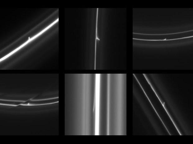 Sonda espacial registra objetos estranhos em anel de Saturno