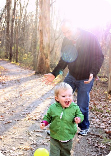 Daddy chasing Eva