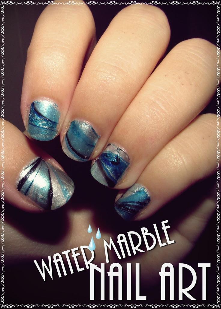 water marble nail art | Nail Art | Pinterest