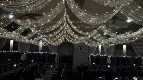 Crystal Ceiling Curtains For Weddings & Crystal Drapes
